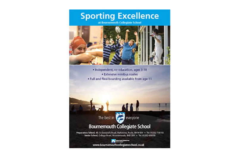 Promotional advert for Bournemouth Collegiate School