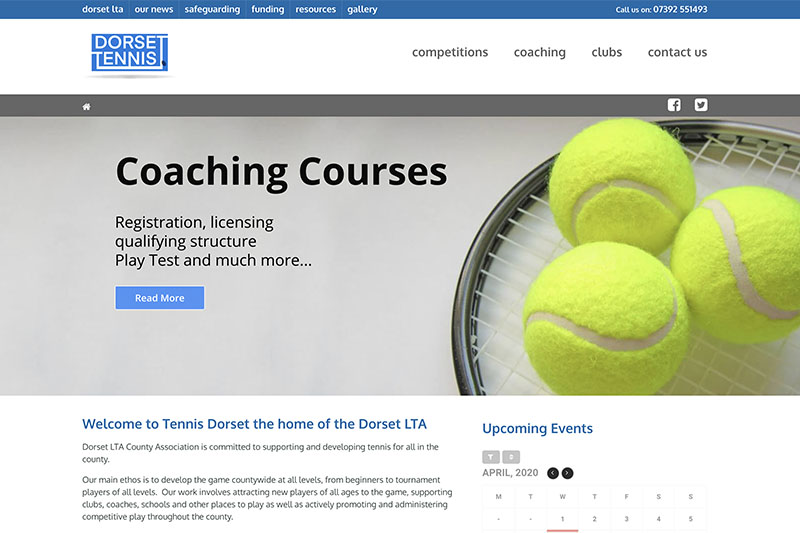 Dorset LTA website working out of West Hants Tennis club.